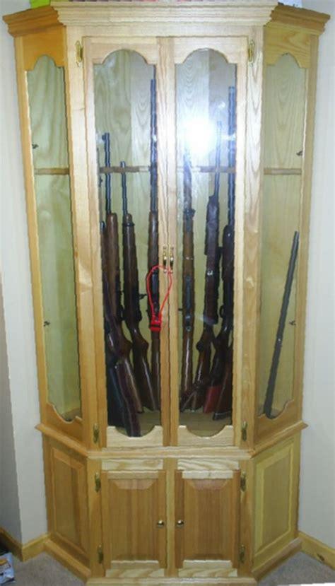 corner gun cabinet plans 11 best gun cabinets images on gun safes gun