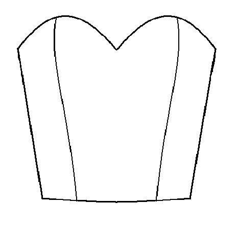 pattern drafting pleated neckline draft a bodice with sweetheart neckline american girl
