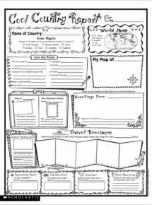 cool country report fill in poster parents scholastic