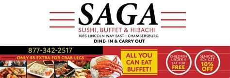 buffet city coupons saga sushi buffet hibachi in chambersburg pa local coupons january 05 2018