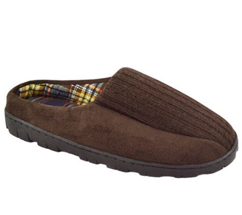 mens muk luk slippers muk luks s ribbed scuff slippers a331818 qvc