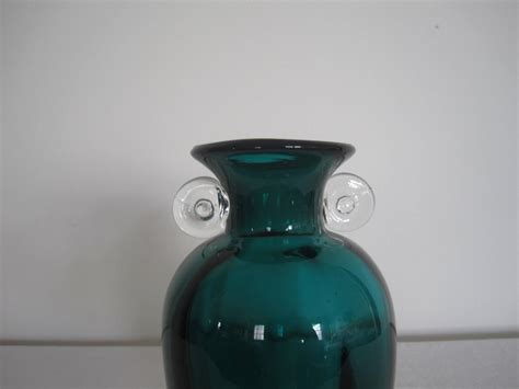 Blown Glass Ls For Sale by Vintage Emerald Green Blown Glass Vase For Sale At 1stdibs