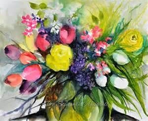 Flowers Vase Painting Ute Sturm Aquarelle Ein Malerisches Tagebuch Aquarell