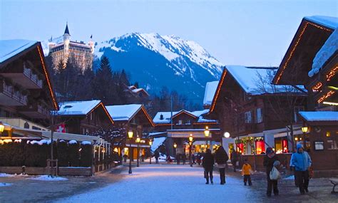 Chalet Style Homes by Glitzy Gstaad Swish Swiss Ski Resort Not Just For