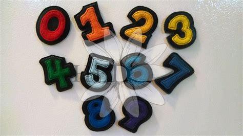 Number Feltie   Applique
