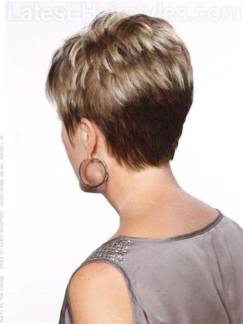 short pixie hair style with wedge in back short stacked bob hairstyles back view my style hair