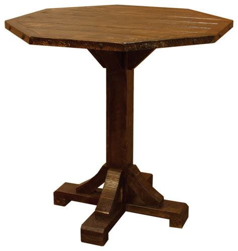 Rustic Bistro Table Furniture Barn Usa Rustic Barn Wood Style Timber Peg Bistro Table Bar Height Reviews Houzz