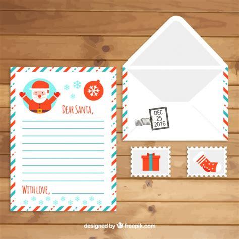 francobolli per lettere busta con la lettera di babbo natale e francobolli