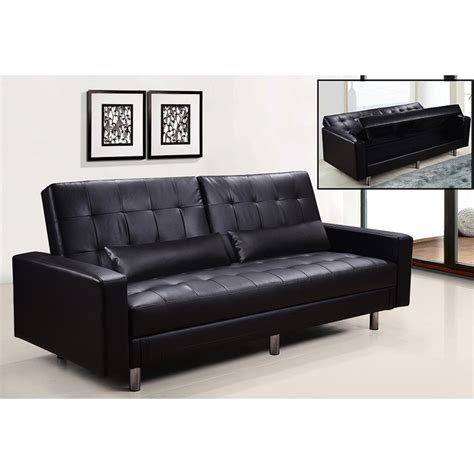 divani letto in ecopelle divano letto in ecopelle nera con contenitore reclinabile