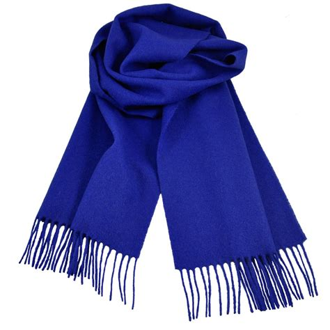 plain royal blue 100 wool scarf from ties planet uk