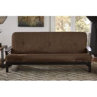 chocolate brown futon dorel 6 inch coil futon mattress with certipur us