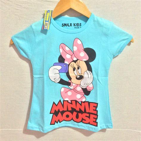 Kaos Cupids Minie Mousw kaos minnie mouse selfie 1 6 smile grosir eceran baju anak murah berkualitas
