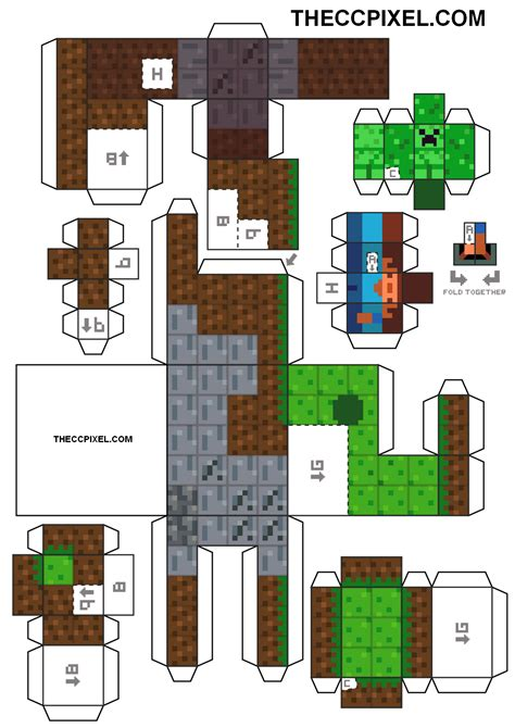 Print Out Minecraft Papercraft - the gallery for gt papercraft minecraft house