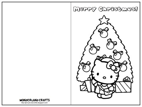 printable christmas cards for kids to color wonderland crafts greeting cards