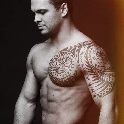 male chest tattoos shoulder tattoos for designs ideas and meaning