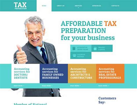 Cpa Websites Tax Preparer Website Template
