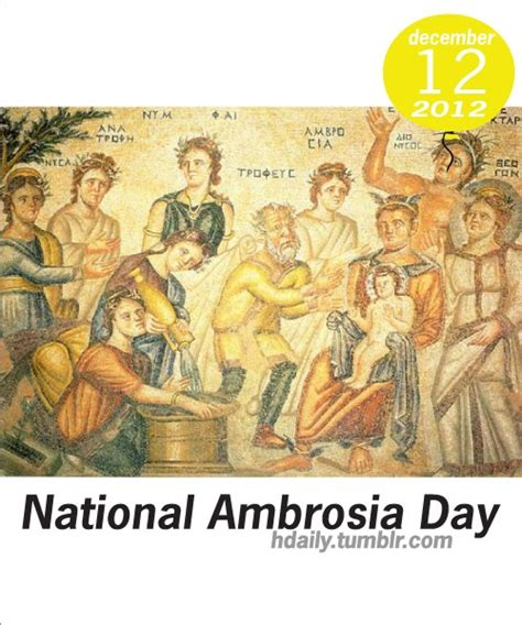 is today national day today is national ambrosia day get on the calendar