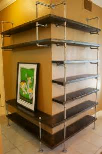 Entertainment Shelving Units Industrial Pipe Shelving Entertainment Unit Entertaiment