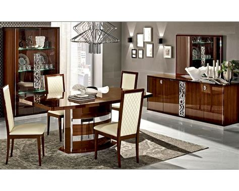 italian dining room set italian dining room set in walnut roma 3323ro