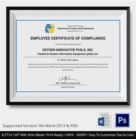 design compliance certificate certificate of compliance template certificate of data