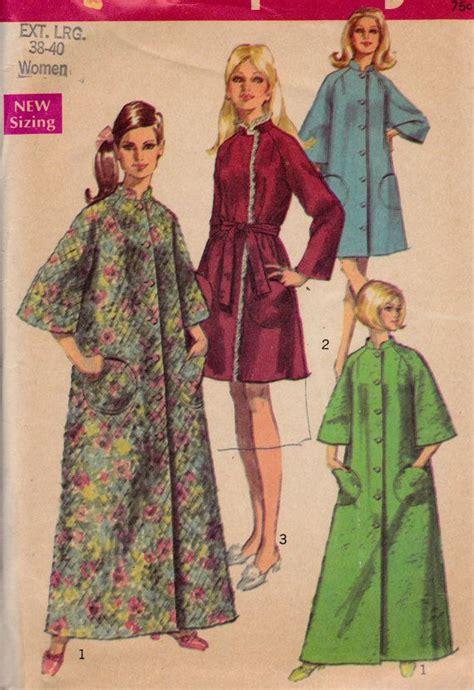 sewing pattern robe 1960 s vintage womens sewing pattern bath robe housecoat