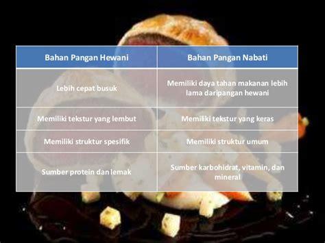 pengolahan bahan pangan nabati  hewani