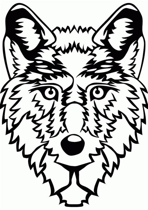 coloring page of a wolf s face wolf face coloring page az coloring pages