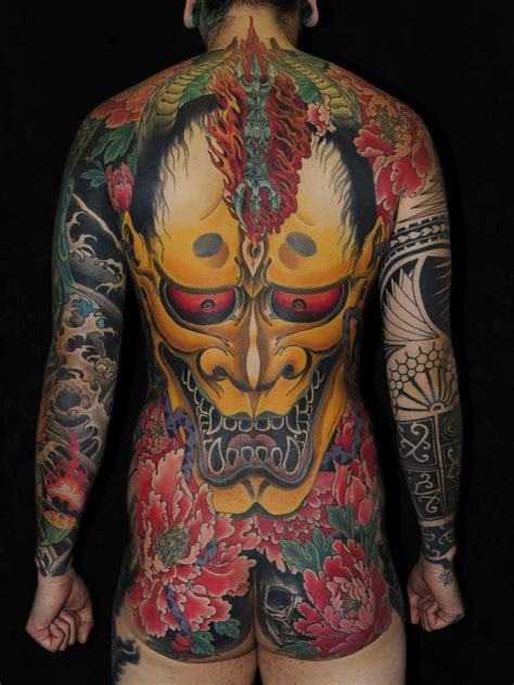 tribal tattoo yakuza mixed with hannya mask japanese best ideas