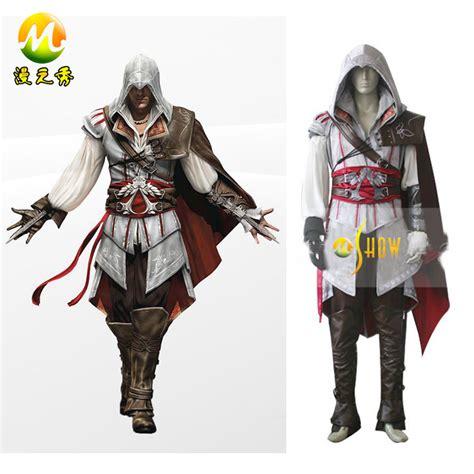 Assassins Creed 2 Custom Kaos Cowok japanese anime assassin s creed ii ezio auditore da firenze costumes