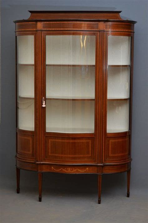 Exceptional Edwardian Mahogany Display Cabinet Vitrine China Cabinet   356170   Sellingantiques