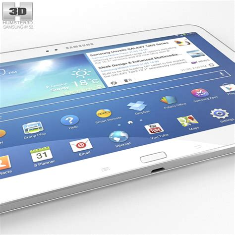 Second Samsung Tab 3 10 Inchi samsung galaxy tab 3 10 1 inch white 3d model hum3d