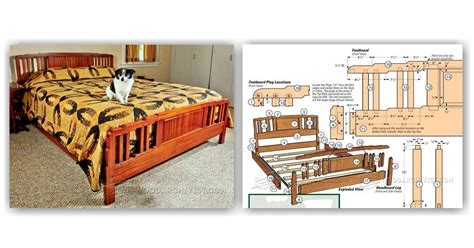Platform Bed Diy Arts And Crafts Bed Plans Woodarchivist