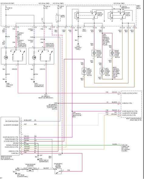 keyless entry wiring diagram 97 concord wiring diagram keyless entry
