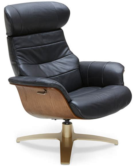 Annaldo Leather Swivel Chair Furniture Macy S How To Make A Swivel Chair
