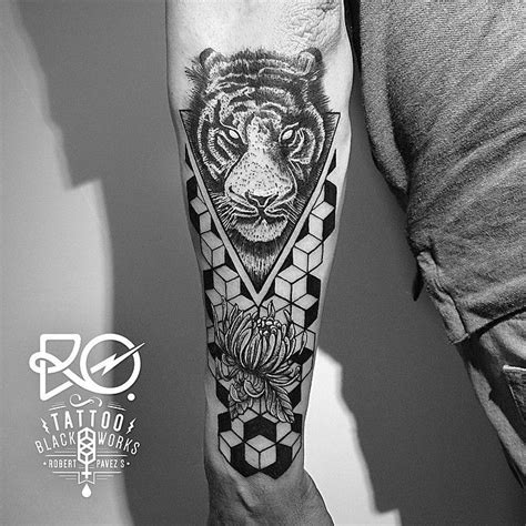 geometric tiger tattoo 39 best images on big cats cats and