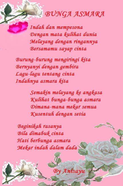 puisi cinta  anisayu bunga asmara
