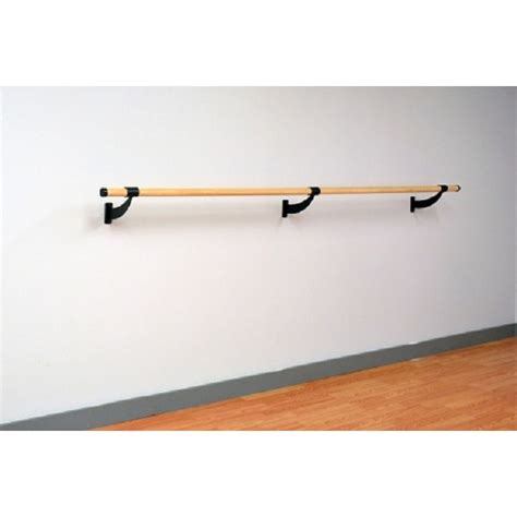 traditional wood single bar wall mount ballet barre system
