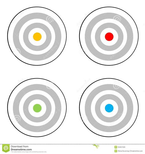 Target Yellow L by Four Targets Royalty Free Stock Photo Image 34457225