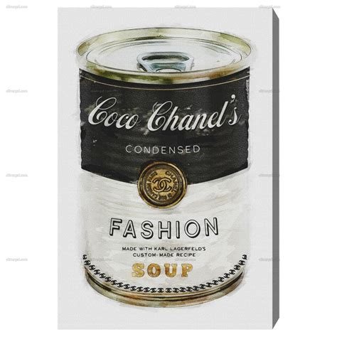 Cbells Soup Cans Get Stylish by Fashion Soup Oliver Gal