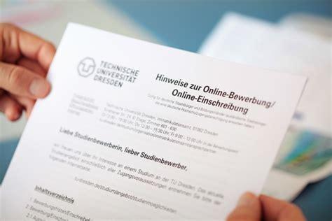 Bewerbung Tu Dresden Studienvoraussetzungen Studium Tu Dresden