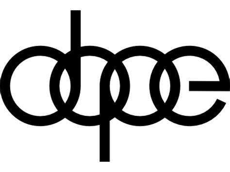 audi logo transparent background vinylmark com audi dope 5 quot by 3 3 quot vinyl decal 2 pack