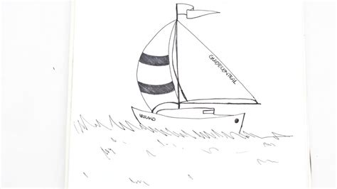 how to draw a realistic boat easily draw a realistic yacht using blank ink diy