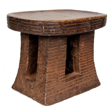 carved wood stools tribal cameroon grasslands wood carved stool 20th