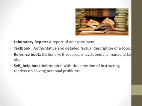 how to type a book report types of book reports