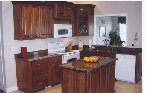 brown and white kitchen cabinets granite countertop recent work and finished job