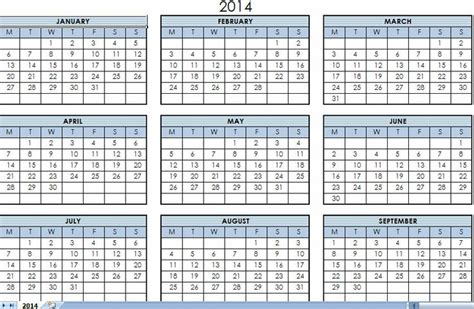 2014 printable calendar template 2014 printable one page