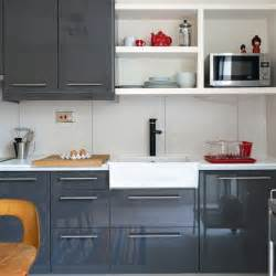 Modern high gloss grey kitchen kitchen decorating housetohome co