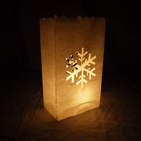 How To Make Paper Luminaries - snowflake paper luminaries luminary lantern bags path
