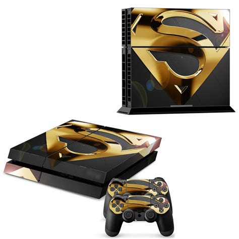 Ps4 Sticker Gold by Gold Color Superman Logo Skin For Ps4 Sticker For
