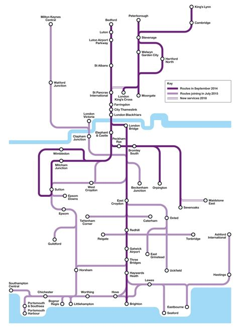 themes link train map govia thameslink railway
